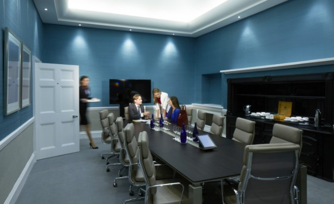 Inside Knightsbridge offices meeting room